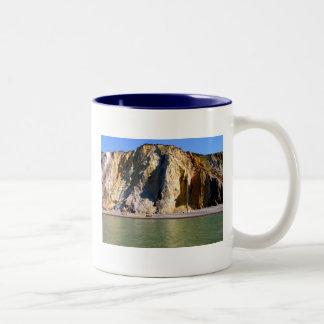 Coloured sands of Alum Bay Two-Tone Coffee Mug