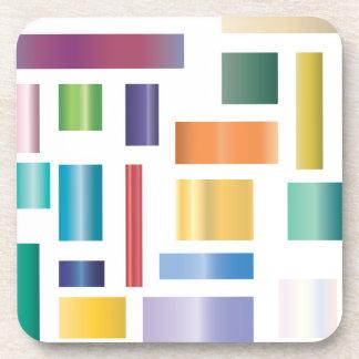 Coloured Shapes set of 6 Coasters