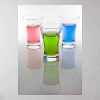 Coloured Shot Glasses Print