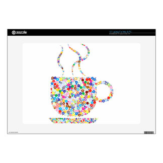 """Coloured Steaming Cup 15"""" Laptop Skins"""