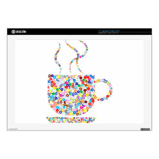 Coloured Steaming Cup Laptop Skins