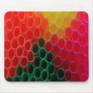 Coloured Straws Mouse Pad