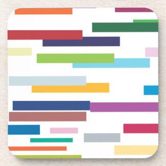 Coloured Stripes Beverage Coaster