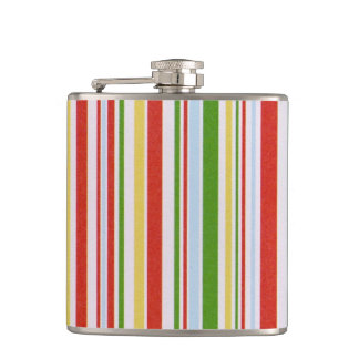 Coloured Stripes Flask