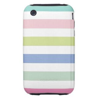 Coloured Stripes iPhone 3 Case-Mate Tough Tough iPhone 3 Case