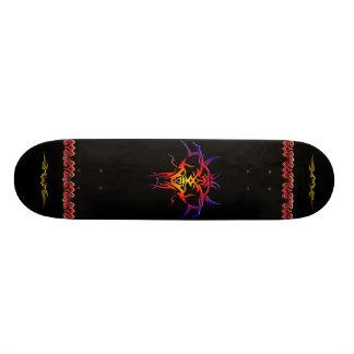 Coloured Tatto Design Skateboard