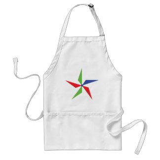 coloured wind wheel icon apron