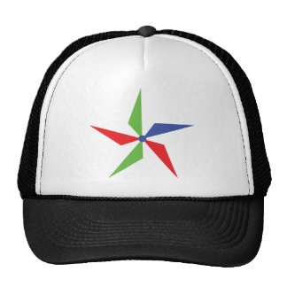 coloured wind wheel icon trucker hat