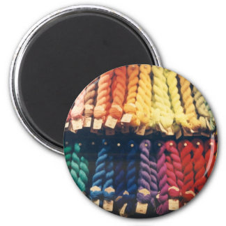 COLOURED YARNS LIBERTY 2 INCH ROUND MAGNET