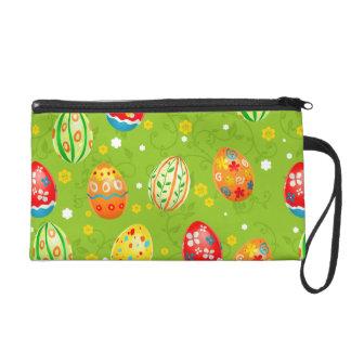 Colourfol floral decorated eggs wristlet purse