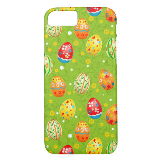 Colourfol floral decorated eggs iPhone 7 case