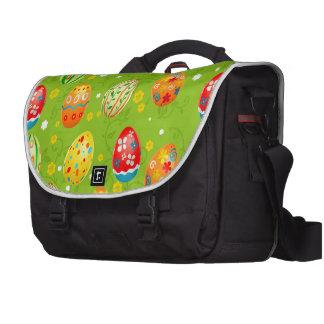 Colourfol floral decorated eggs laptop bags