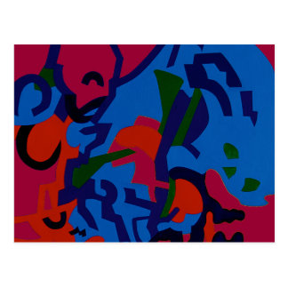 Colourful Abstract Art Postcard