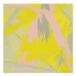 Colourful abstract bright contemporary Art Poster