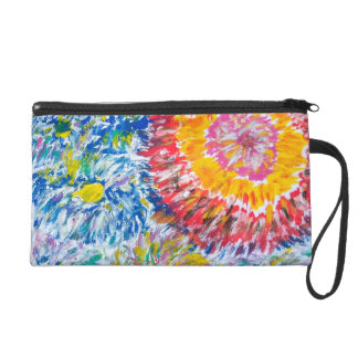 Colourful Abstract Chrysanthemums Wristlet