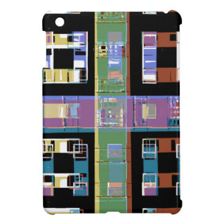 Colourful abstract city apartments iPad mini cases