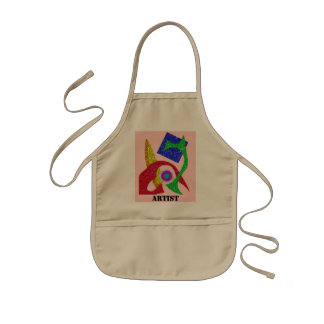 Colourful Abstract  Design Kids' Apron