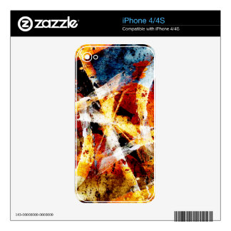 Colourful abstract graffiti decals for the iPhone 4S