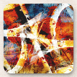 Colourful abstract graffiti drink coaster