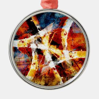 Colourful abstract graffiti metal ornament