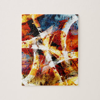 Colourful abstract graffiti puzzle
