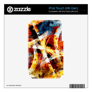 Colourful abstract graffiti decals for iPod touch 4G