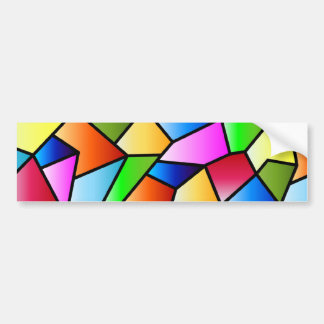 Colourful Abstract Stained Glass Bumper sticker