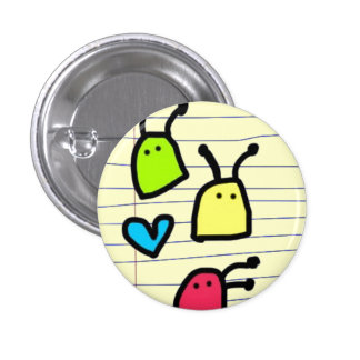 colourful alien blobs doodle pin