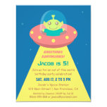 Colourful Alien Outer Space Birthday Party Card