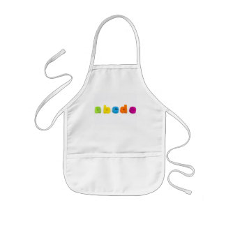 colourful alphabet letters apron