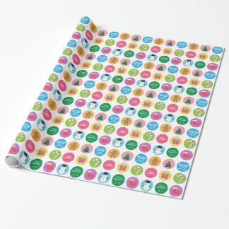 Colourful and Bright Merry Christmas Gift Wrap