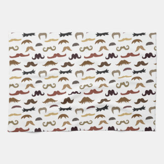 Colourful and Cool Moustaches Pattern Hand Towels