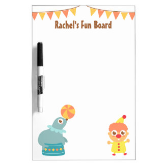 Colourful and Cute Circus Theme Dry-Erase Board