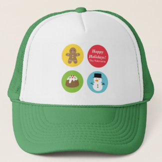 Colourful and Cute, Merry and Bright Christmas Trucker Hat