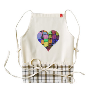 colourful animated heart Apron