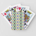 Colourful Argyle Rhombic Diamond Pattern Bicycle Poker Deck