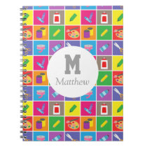 Colourful Arts and Craft Pattern Kids Sketchbook Notebook