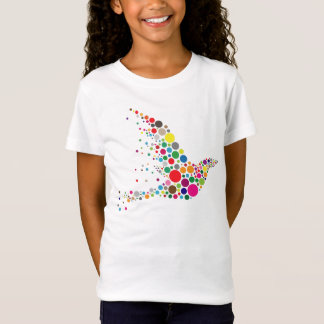 Colourful Artsy Circles Bird T-Shirt