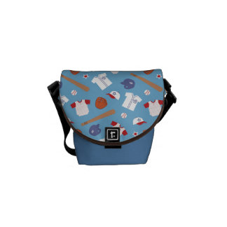 Colourful Baseball Theme Pattern For Boys Courier Bags