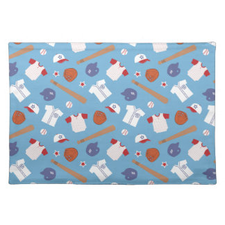 Colourful Baseball Theme Pattern For Boys Placemat