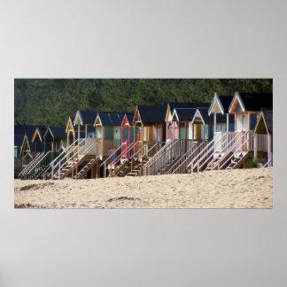 COLOURFUL BEACH HUTS PRINT