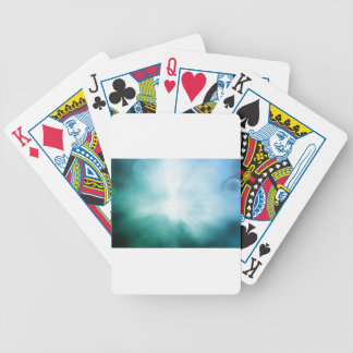 Colourful beautiful abstract blurred ray of colour bicycle playing cards