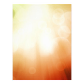 Colourful beautiful abstract blurred ray of colour letterhead