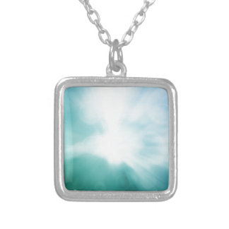 Colourful beautiful abstract blurred ray of colour square pendant necklace