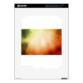 Colourful beautiful abstract blurred ray of colour skins for iPad 3