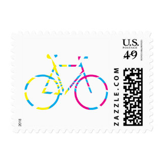 Colourful bicycle stamp