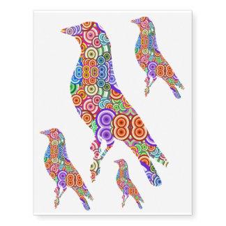 Colourful Bird Temporary Tattoo