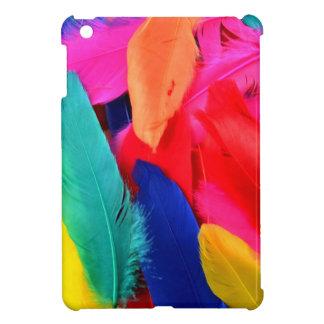 Colourful birds feathers iPad mini case