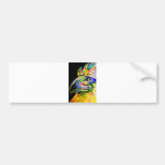 Colourful Birds Head and Beak Bumper Sticker