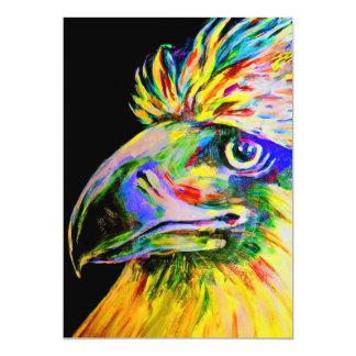 Colourful Birds Head and Beak Card